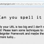 Minimize your URLs in Codeigniter
